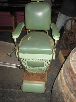 Green Barber Chair Friseurstuhl 20er Jahre - US Import