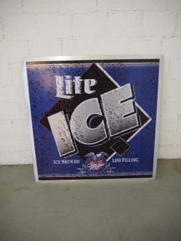 Miller Lite Ice Reklameschild - US Import