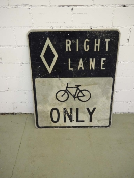 Right Lane Bicycle only Sign - US Import