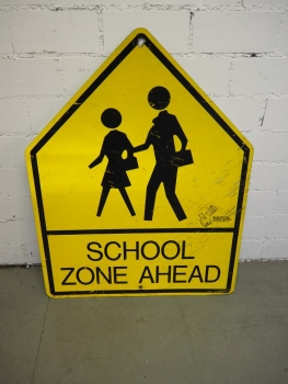 School Zone Ahead Sign - US Import