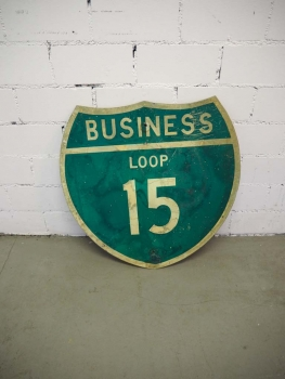 Business Loop 15 Sign - US Import