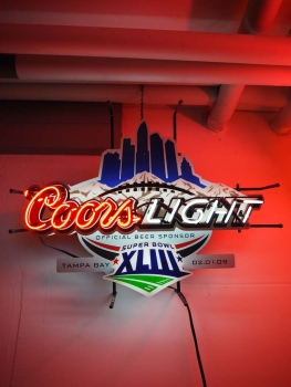 Coors Light Superbowl Neonleuchtreklame - US Import