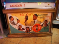 1953er Coca-Cola Cardboard Sign Larry Steele`s Smart Affairs with wooden frame - US Import